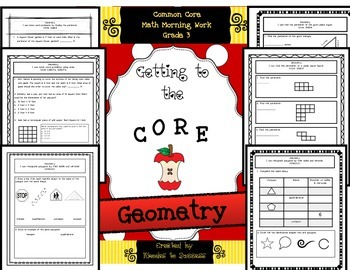 Grade 3 Common Core Geometry/Perimeter/Area Assessments