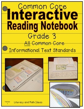 Grade 3 Common Core Informational Text Interactive Reading