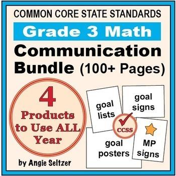 Grade 3 Common Core Math Communication Bundle (Posters, Go