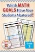 Grade 3 Common Core Math EXCEL Goal Tracker Spreadsheet wi