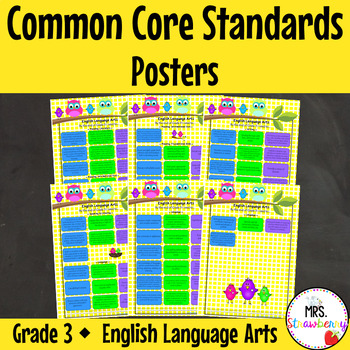 Grade 3 Common Core Standards Posters {English Language Ar