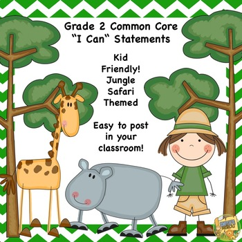 "Grade 3 - Common Core Standards - ""I Can"" Kid Friendly - S"