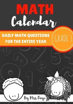 Grade 3 Daily Math Calendar Questions
