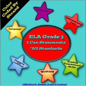 Grade 3 ELA I Can Statements Common Core