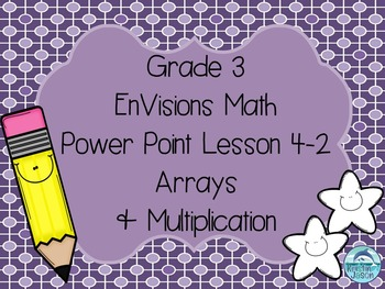 Grade 3 EnVisions Math Lesson 4-2 Power Point Lesson on Arrays