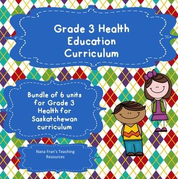 Grade 3 Health Bundle of 6 Units