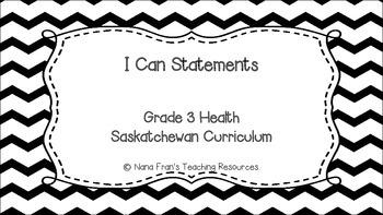 Grade 3 Health I Can Statement Posters - Chevron