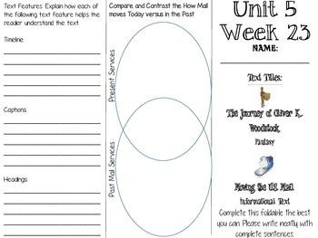 Grade 3 Journeys Unit 5 Week 23 Tri-fold