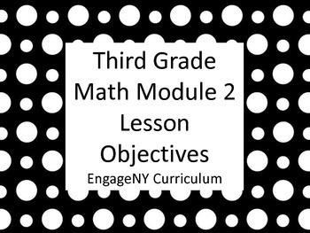 Grade 3 Learning Targets Math Module 2
