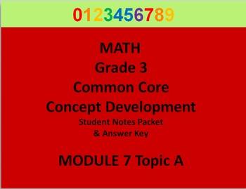 Grade 3 Math Common Core CCSS Student Lesson Pack Module 7