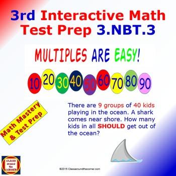 Grade 3 Math Interactive Test Prep – Multiples of Ten for 3.NBT.3