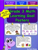 Grade 3 Math Learning Goals Posters - 78 pages