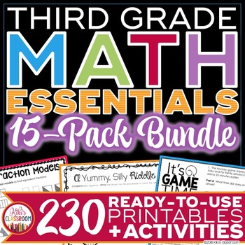 3rd Grade Math Bundle - Printables & Activities