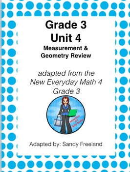 Grade 3 Math Review Bundle Adapted from Unit 4 New Everyda