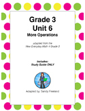 Grade 3 Math Review Study Guide ONLY Adapted from Unit 6 N