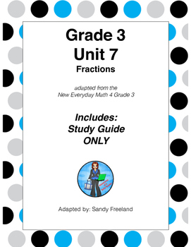 Grade 3 Math Review Study Guide ONLY Adapted from Unit 7 N
