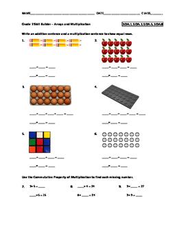 Grade 3 Math Skill Builder - Arrays and Multiplication FREE