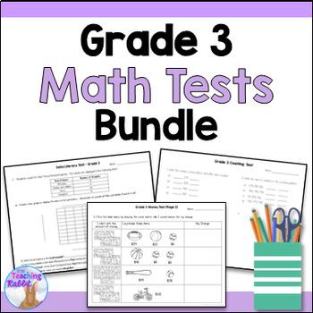 Grade 3 Math Tests Bundle (Ontario Curriculum)