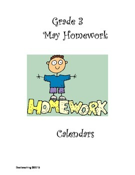 Grade 3 May Homework Calendar