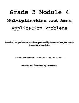 Grade 3 Module 4 Application Problems