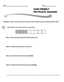 Grade 3 Module 5 Mid-Module Assessment
