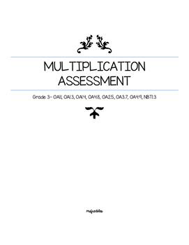 Grade 3 Multiplication Assessment