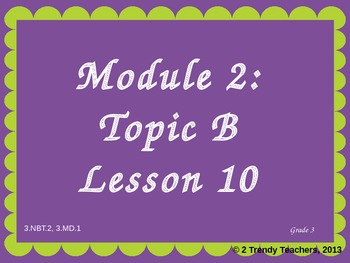 Grade 3 NYS Math Module 2: Lesson 10 Power Point