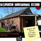 Grade 3 Ontario Social Studies Unit for Communities in Can