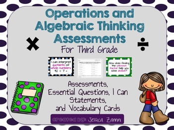 Grade 3 Operations and Algebraic Thinking Assessment Pack