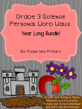 Grade 3 Science - Personal Word Wall Bundle