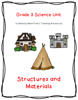 Grade 3 Science: Structures and Materials: Lesson Plans, A