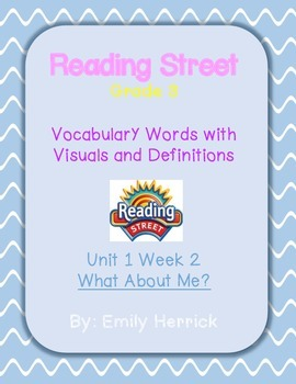 Grade 3 Scott Foresman Reading Street Vocabulary with Visu