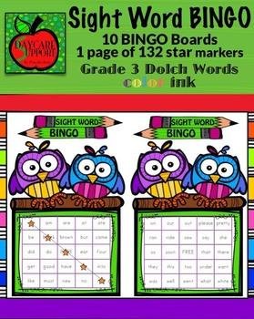 Grade 3 Sight Word BINGO color ink (Daycare Support by Pri
