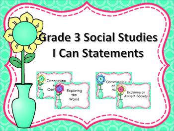 Grade 3 Social Studies I Can Statements - Manitoba Curriculum