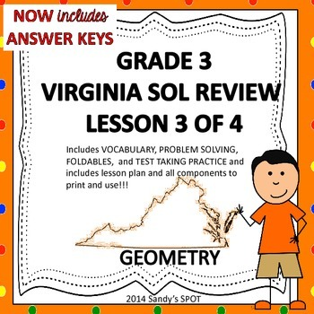 Grade 3 VIRGINIA SOL Math Review 3 of 4 GEOMETRY
