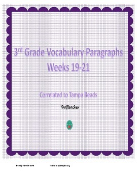 Grade 3 Vocabulary Weeks 19-21