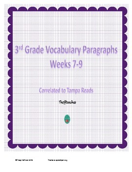 Grade 3 Vocabulary Weeks 7-9