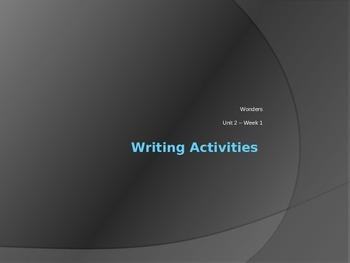 Grade 3 Wonders Unit 2 Week 1 Writing Center