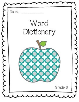 Grade 3 Word Wall Words/vocabulary booklet