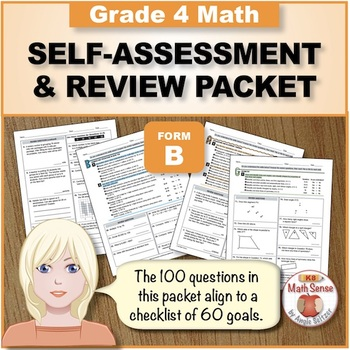 Grade 4 CCSS Math Self-Assessment and Review Packet ~ Form B