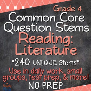 Reading: Literature Annotated Standards and Question Stems