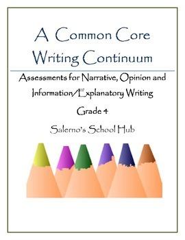 Grade 4 CCSS Writing Continuum