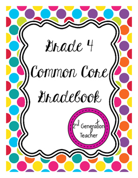 Grade 4 Common Core Gradebook *Editable*