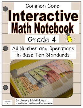 Grade 4 Common Core Interactive Notebook Number and Operat
