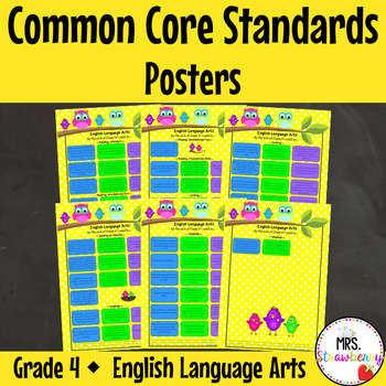 Grade 4 Common Core Standards Posters {English Language Ar
