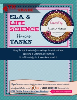 Interactive Science Notebook Grade 4 ELA & LIFE Science Bl