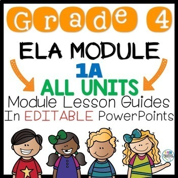 Grade 4 ELA Module 1A All Units and Lessons Guide in PPT