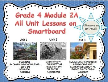 Grade 4 ELA Module 2A All Unit Lessons for Smartboard.. ED