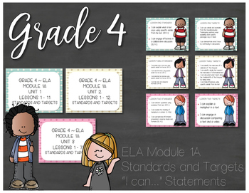 Grade 4 EngageNY ELA Module 1A Standards and Targets I Can