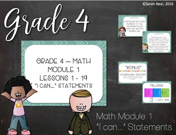 Grade 4 EngageNY Math Module 1 I Can Statement and Standar